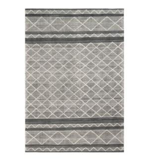 Liora Manne Artista Diamond Stripe Indoor/Outdoor Rug Grey
