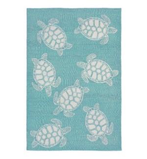 Liora Manne Capri Turtle Indoor/Outdoor Rug Aqua