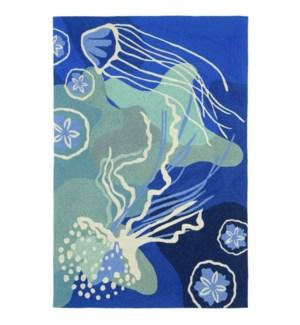 Liora Manne Capri Jelly Fish Indoor/Outdoor Rug Ocean
