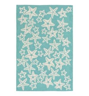 Liora Manne Capri Starfish Indoor/Outdoor Rug Aqua