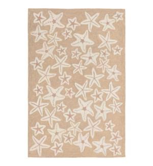 Liora Manne Capri Starfish Indoor/Outdoor Rug Neutral