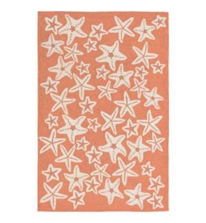 Liora Manne Capri Starfish Indoor/Outdoor Rug Coral