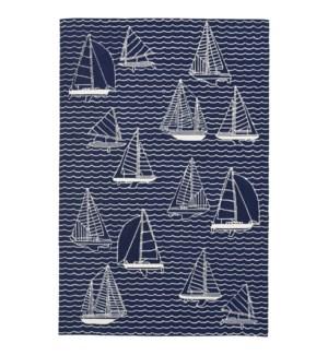 Liora Manne Capri Sails Indoor/Outdoor Rug Navy