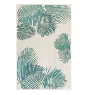 Liora Manne Carmel Palm Indoor/Outdoor Rug Aqua
