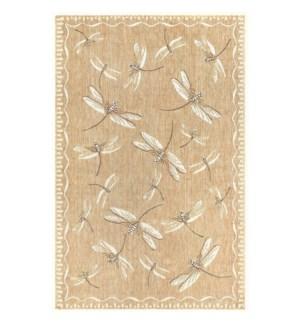 Liora Manne Carmel Dragonfly Indoor/Outdoor Rug Sand