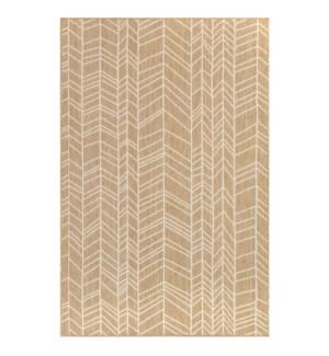 Liora Manne Carmel Chevron Indoor/Outdoor Rug Sand