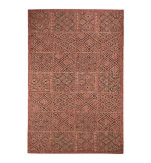Liora Manne Carmel Patchwork Kilim Indoor/Outdoor Rug Red