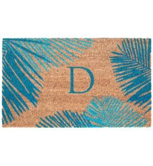 Liora Manne Dwell Palm Border Outdoor Mat Blue D