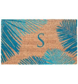 Liora Manne Dwell Palm Border Outdoor Mat Blue S