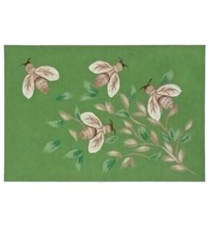 Liora Manne Illusions Bees Indoor/Outdoor Mat Green