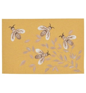 Liora Manne Illusions Bees Indoor/Outdoor Mat Honey