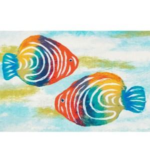 Liora Manne Illusions Rainbow Fish Indoor/Outdoor Mat Pearl