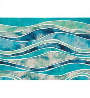 Liora Manne Illusions Wave Indoor/Outdoor Mat Ocean
