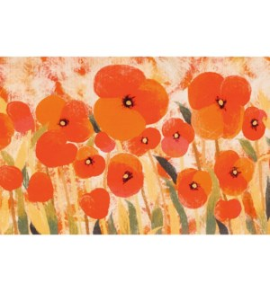 Liora Manne Illusions Poppies Indoor/Outdoor Mat Red