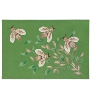 Liora Manne Illusions Bees Indoor/Outdoor Mat Green