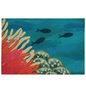 Liora Manne Illusions Reef & Fish Indoor/Outdoor Mat Coral