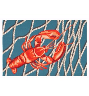 Liora Manne Illusions Lobster Net Indoor/Outdoor Mat Navy