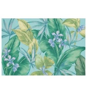 Liora Manne Illusions Tropical Leaf Indoor/Outdoor Mat Aqua