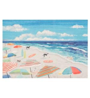 Liora Manne Illusions Dog Beach Indoor/Outdoor Mat Ocean