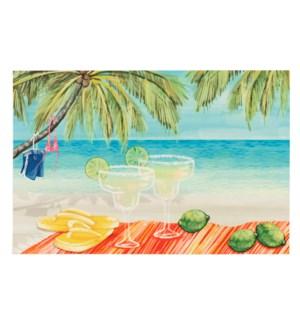 Liora Manne Illusions Beach Party Indoor/Outdoor Mat Multi