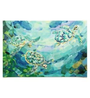 Liora Manne Illusions Tulum Turtles Indoor/Outdoor Mat Sea