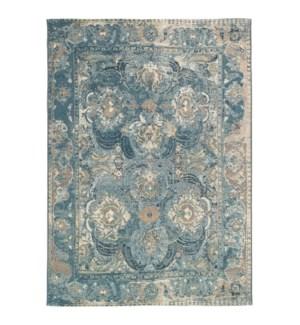 Liora Manne Marina Kashan Indoor/Outdoor Rug Blue