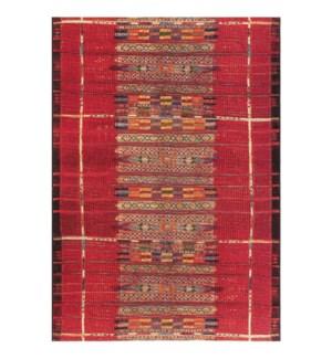 Liora Manne Marina Tribal Stripe Indoor/Outdoor Rug Red