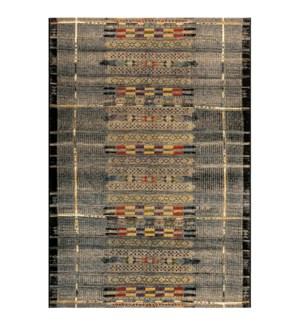 Liora Manne Marina Tribal Stripe Indoor/Outdoor Rug Black