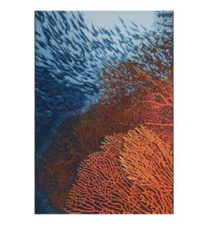 Liora Manne Marina Coral Indoor/Outdoor Rug Ocean