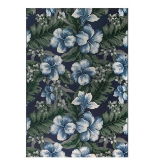 Liora Manne Marina Floral Indoor/Outdoor Rug Navy