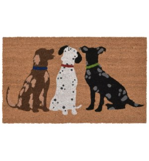 Liora Manne Natura Three Dogs Outdoor Mat Natural