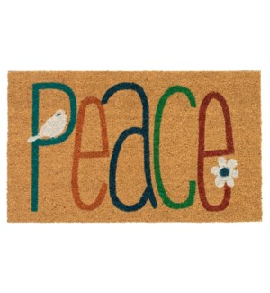Liora Manne Natura Peace Outdoor Mat Natural