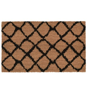 Liora Manne Natura Ikat Lattice Outdoor Mat Black