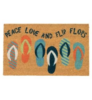 Liora Manne Natura Flip Flops Outdoor Mat Cool