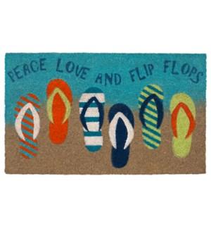 Liora Manne Natura Flip Flops Outdoor Mat Ombre Blue