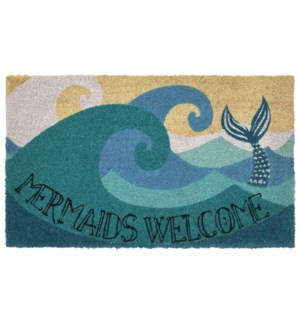 Liora Manne Natura Mermaids Welcome Outdoor Mat Ocean