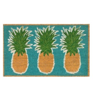 Liora Manne Natura Pineapples Outdoor Mat Aqua