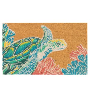 Liora Manne Natura Seaturtle Outdoor Mat Neutral