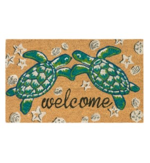 Liora Manne Natura Seaturtle Welcome Outdoor Mat Natural