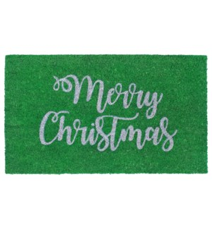 Liora Manne Natura Merry Christmas Outdoor Mat Green