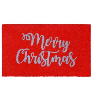 Liora Manne Natura Merry Christmas Outdoor Mat Red
