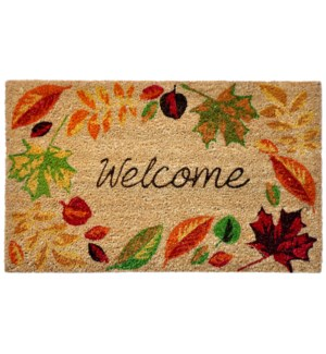 Liora Manne Natura Welcome Leaves Outdoor Mat Natural