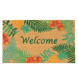 Liora Manne Natura Tropical Welcome Outdoor Mat Natural