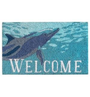 Liora Manne Natura Dolphin Outdoor Mat Ocean