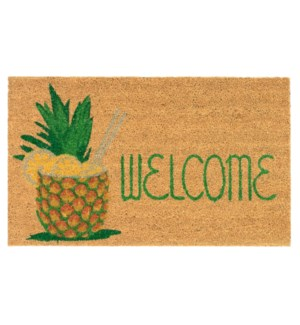 Liora Manne Natura Welcome Pineapple Outdoor Mat Natural