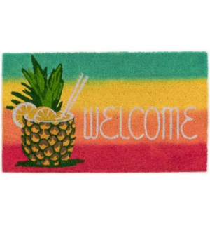 Liora Manne Natura Welcome Pineapple Outdoor Mat Warm