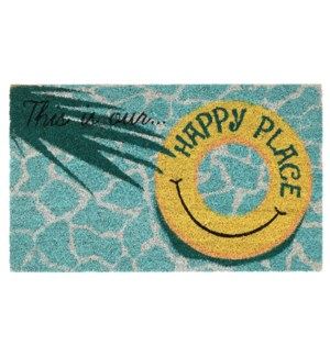 Liora Manne Natura This Is Our Happy Place Outdoor Mat Aqua