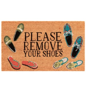 Liora Manne Natura Please Remove Your Shoes Outdoor Mat Natural