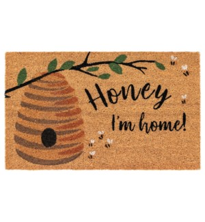 Liora Manne Natura Honey I'm Home Outdoor Mat Natural