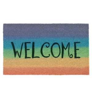 Liora Manne Natura Welcome Outdoor Mat Rainbow